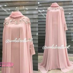 Image may contain: one or more people and people standing Hijab Dress Party, Hijab Style Dress, Mode Abaya, Mode Hijab, Abaya Fashion, Fashion Dresses, Dress Outfits, Muslimah Wedding Dress, Wedding Abaya