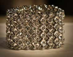 Silver Crystal Large Cuff Bracelet. Absolutely gorgeous.www.yorkpromenade.com