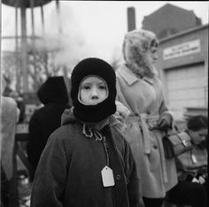 Vivian Maier, Chicago North Suburbs (Boy in Winter Hat) Stephen Bulger Gallery, Toronto Vivian Maier Street Photographer, Black N White Images, Black And White, Vivian Mayer, Nostalgia, Moving To Chicago, Street Photographers, Female Photographers, Wonderful Picture