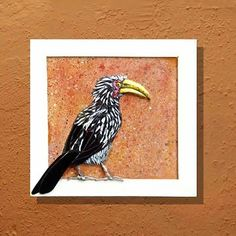 I love the comical yellow-billed hornbill. A common visitor to the garden and picnics! Made from glass in relief (3D). This one is out on display and for sale at Glass Cuttings at Piggly Wiggly in the KZN Midlands. (40x40 cm, available) #yellowbilledhornbill #hornbill #sarahpryke #fragmentsofafrica #bigbill #homeowner #interiordesign #mosaicart #terracotta #outdoorliving #outdoordesign #madeinsouthafrica #southafrica #bird #birdsofinstagram #birdart #pigglywigglymidlands