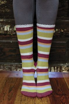 040ac5f7900 World s Softest Socks - Jazz Crew in Felicity Stripe