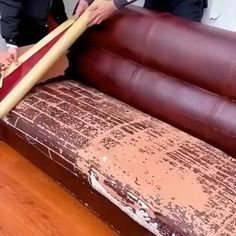 Furniture Repair, Furniture Makeover, Diy Furniture, Leather Furniture, As You Like, Just In Case, Leather Restoration, Leather Repair, Home Fix