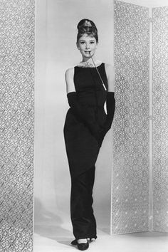 JANUARY 2012 - Audrey Hepburn as Holly Golightly in Breakfast at Tiffany's (1961), costume by Hubert De Givenchy.