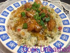 Chinese Orange Chicken (P.F Chang's in my own style) with Egg-Vegetable Fried Rice