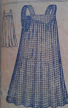 Antique Vintage 1900s Edwardian Ladies Work Apron by misshelenes, $75.00