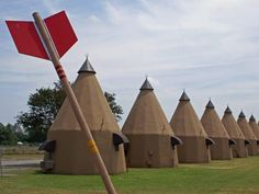 """stay at a tee pee motel. sixty miles southwest of h-town in """"the tee pee motel"""" in wharton, tx."""