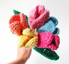 DIY Crochet Spring Tulips / Flowers for Mother's Day