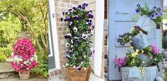 14 Dramatic DIY Flower Tower Ideas | Tower Garden DIY