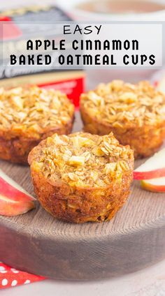 Recipes Oatmeal These Apple Cinnamon Baked Oatmeal Cups are the perfect, on-go-the breakfast to enjoy any day of the week. Fresh apples, a sprinkling of cinnamon, and hearty oats make a deliciously cozy dish to enjoy throughout the season! Breakfast Cookies, Breakfast Dishes, Breakfast Potatoes, Breakfast Burritos, Breakfast Bake, Breakfast Casserole, Brunch Recipes, Baby Food Recipes, Muffin Recipes