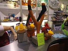 The Angry Birds as seen at the Testors booth at CHA.