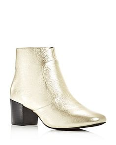 Sol Sana Women's Martina Leather Block Heel Booties