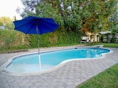 Small Inground Pools | pool with diving board. The beach entry is perfect if you have small ...
