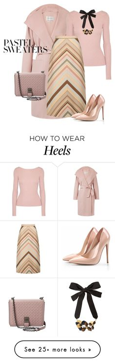 """outfit 7618"" by natalyag on Polyvore featuring MaxMara, Elizabeth and James, Valentino, Bottega Veneta, Marni and pastelsweaters"