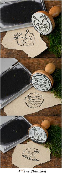 Wedding Wooden Custom Stamps