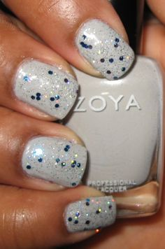 NYC Starry Silver Glitter  #nails #nailart