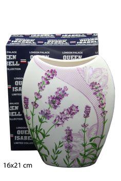 Vase Motiv Lavendel Porzellan Blumenvase Palace London, Atelier, China China, Vase For Flowers, Anniversary, Lavender, Holiday, Birthday