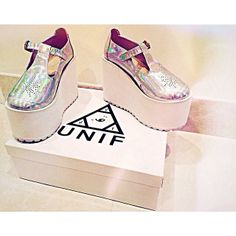 Piaiezzi with the UNIF Mary Janes Platforms. Must have