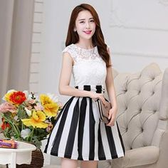 Buy 'Romantica � Sleeveless Paneled Striped Dress' with Free International Shipping at YesStyle.com. Browse and shop for thousands of Asian fashion items from China and more!