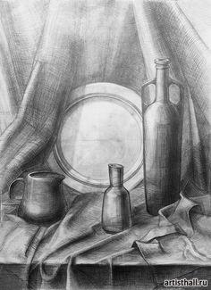 Still Life Sketch, Still Life Drawing, Painting Still Life, Still Life Art, Pencil Sketch Drawing, Pencil Art Drawings, Art Sketches, Fall Canvas Painting, Canvas Art Prints