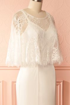 Mary-Kate White 2-Piece Lace Top Mermaid Bridal Dress   Boudoir 1861