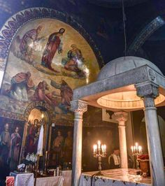 Church Interior, Religious Images, Middle East, Egyptian, Cathedral, Oriental, Around The Worlds, Icons, Crafts