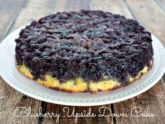 A new recipe to use all the blueberries in my freezer!      Blueberry Upside Down Cake