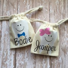 """THIS IS A BLANK PRODUCT - READY TO SHIP WITHIN 1-2 BUSINESS DAYS TOOTH FAIRY BAGS 3"""" x 5"""" (made of natural fiber muslin cotton) Selling embellished on Etsy for $5.99 or more!!! (the embellished photo"""