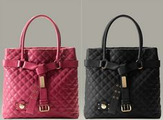 Marc Jacobs Casey Quilted Bags in pink & black. #Marc #Jacobs #Bag