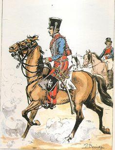 1st Hussars, Sous lieutenant dispatch rider.