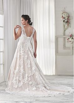 Buy discount Marvelous Tulle Sweetheart Neckline A-line Plus Size Wedding Dresses with Sequins Lace Appliques at Dressilyme.com