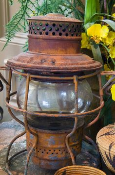 Antique Lantern...traveling lanterns for tables