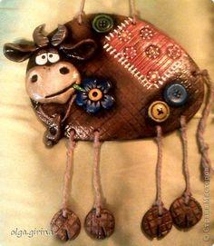 Подглядела я бычка у замечательной мастерицы Светулы,спасибо Светочка!очень захотелось,вот мой вариант!Этот прижился дома! фото 2
