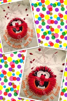 Animal from muppets themed birthday cake