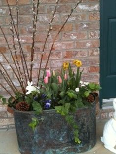 1000 images about flower pot arrangements on pinterest