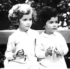 Barbara and Sanne Ledermann in the early 1930's. Barbara was a close friend of Margot Frank and Sanne of Anne Frank. Sanne was murdered in Auschwitz in 1943, Barbara survived the war.