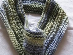 Knit Infinity Scarf Blues and Greens Chunky by susanstreasures, $28.00