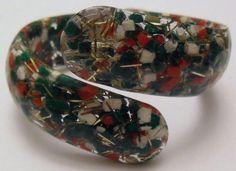Vintage Lucite Hinged Bracelet by onetime on Etsy, $7.25