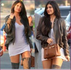 It's pretty sure that Kendall Jenner has immediately validated herself being a supermodel-in-the-making. Estilo Kylie Jenner, Kylie Jenner Look, Kyle Jenner, Kendall Jenner Style, Kendall Jenner Outfits, Look Fashion, Fashion Outfits, Womens Fashion, Teen Fashion