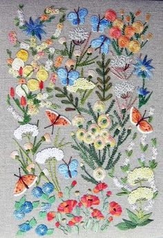 "** ""Flight Of Butterflies"" Brazilian Dimensional Embroidery Pattern @frenchneedle"