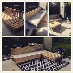Almost finished pallet crate project with VJ's as covering. Need to finish the ottoman, paint it white and get some navy cushions. Well done to hubby. We have been talking about this project for more than 12 months