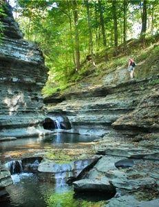 Buttermilk Falls State Park,Ithaca, New York