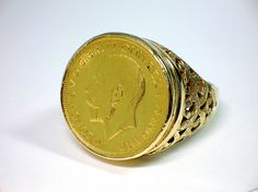 Gold Sovereign Ring