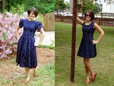Sally Ann: Cheap & Chic - Tutorial #4 - Sound of Music thrift dress to sun dress