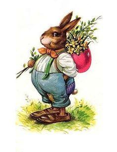 old easter cards Vintage Easter Postcard Easter Bunny Eggs, Easter Art, Hoppy Easter, Easter Crafts, Bunnies, Easter Greeting Cards, Vintage Greeting Cards, Vintage Postcards, Vintage Images