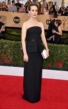 Sarah Paulson from SAG Awards 2017: Best Dressed Celebs  Sarah's always a strong fashion contender and tonight's no exception. That Vera Wang dress and Tyler Ellis clutch were made for her.