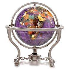 Gemstone Amethyst Opalite Ocean Desktop Globe 6 Inch | eBay