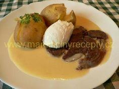 Křenová omáčka s bramborami Baked Potato, Potatoes, Baking, Ethnic Recipes, Food, Potato, Bakken, Essen, Meals