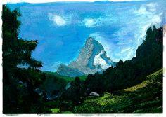 Matterhorn 2016 Ad van den Boom Saas Fee, Mountain Paintings, Zermatt, Swiss Alps, Zurich, Switzerland, Holiday, House, Switzerland Destinations