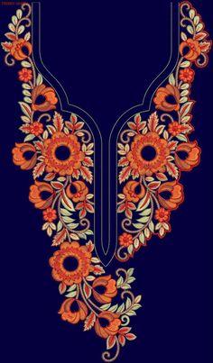 Neck #Kurties #EmbroideryDesigns #tedeex #embfile #embroidery Kurti Embroidery Design, Embroidery Neck Designs, Embroidery Suits, Embroidery On Kurtis, Gold Embroidery, Hand Embroidery Patterns, Textile Patterns, Embroidery Stitches, Hand Work Design