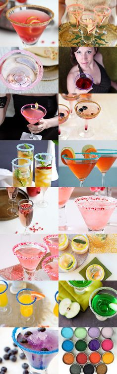 Beverage Bar Ideas for Your Wedding Cocktail Hour - Add sparkle, sweet color and natural flavors to your signature drinks with Dell Cove Spice Co.'s cocktail rim sugars. | #Cocktail sugars are made with #organic sugar and handmade in USA. Available on Etsy.